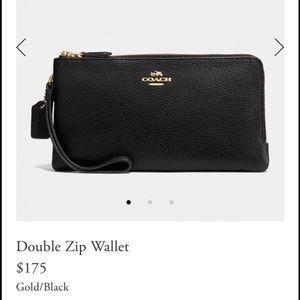 Brand new coach double zip wallet